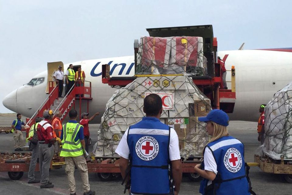 Cruz Roja anunció que llegará nuevo cargamento con ayuda humanitaria
