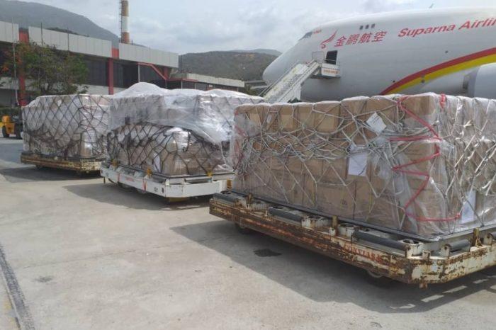Llegó a Venezuela nueva ayuda humanitaria proveniente de China