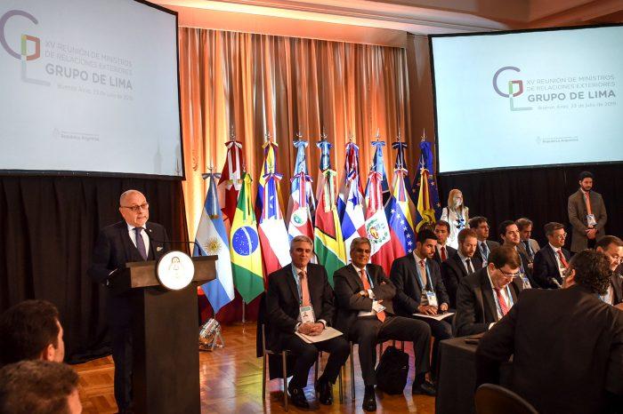 Grupo de Lima presentará nueva resolución sobre crisis de Venezuela ante la ONU