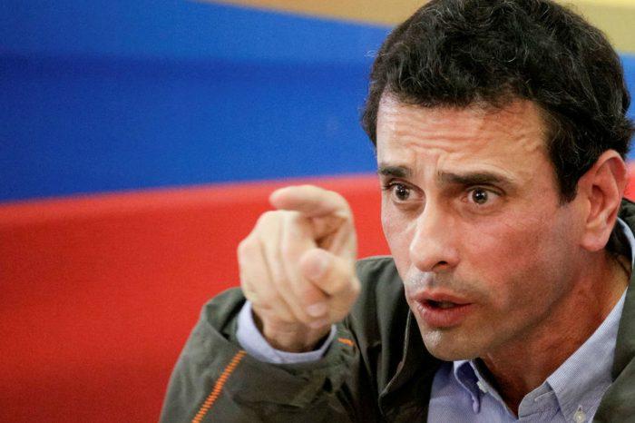 Henrique Capriles al régimen de Maduro: sin plata no son nada