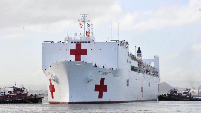 Llegó a Colombia buque hospital de EEUU para atender a migrantes venezolanos