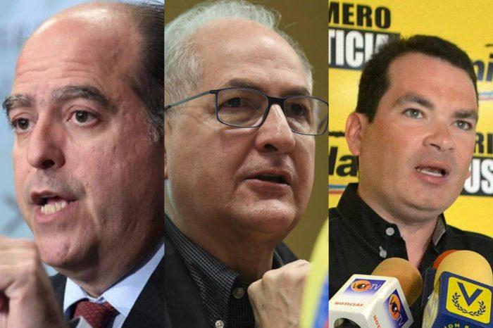 El régimen arremete contra Julio Borges, Tomás Guanipa y Antonio Ledezma