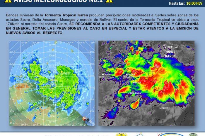 Venezuela atraviesa onda tropical 47 ahora considerada tormenta Karen