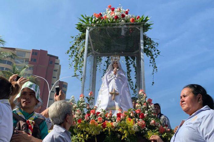 Guaidó pidió a la Virgen del Valle por el cambio en Venezuela
