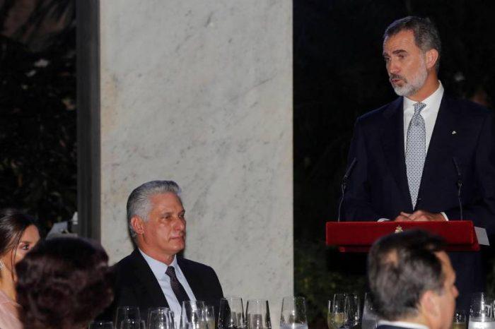 Rey de España no se guardó nada y le habló sobre democracia a Díaz-Canel