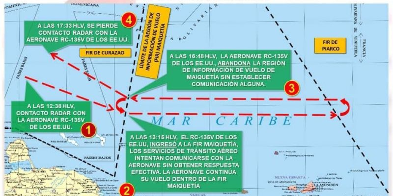 Régimen denunció supuesta incursión de avión espía de EEUU en espacio aéreo venezolano