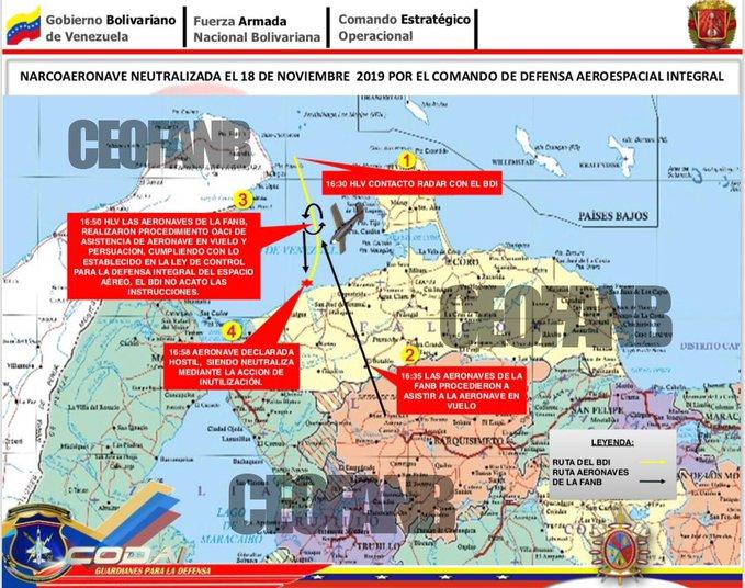 ¿Auto ataque? Régimen alerta de narcoaeronove neutralizada en espacio aéreo venezolano