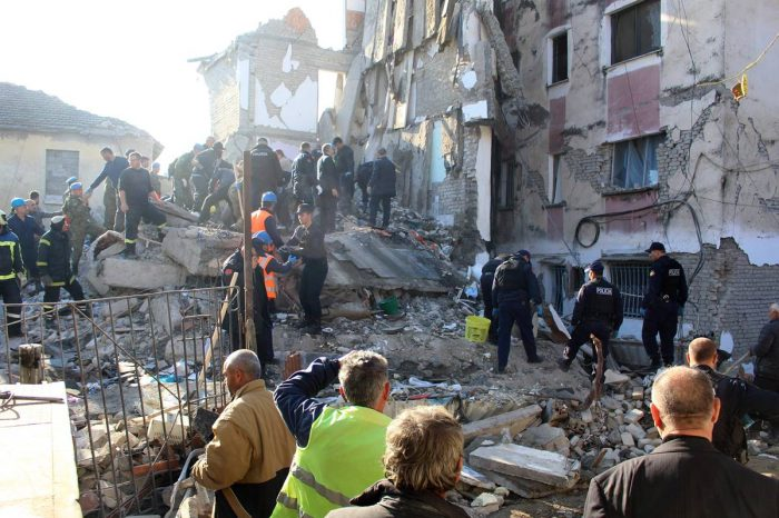 Sismo en Albania dejó 14 muertos y más de 600 heridos