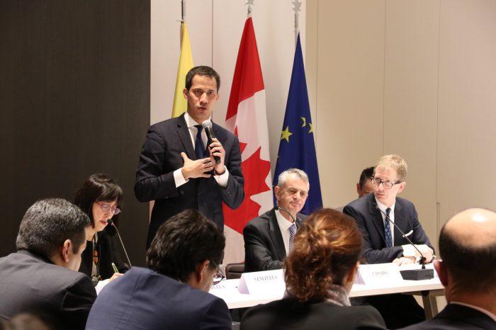Más sanciones al régimen solicitó Guaidó a la Unión Europea
