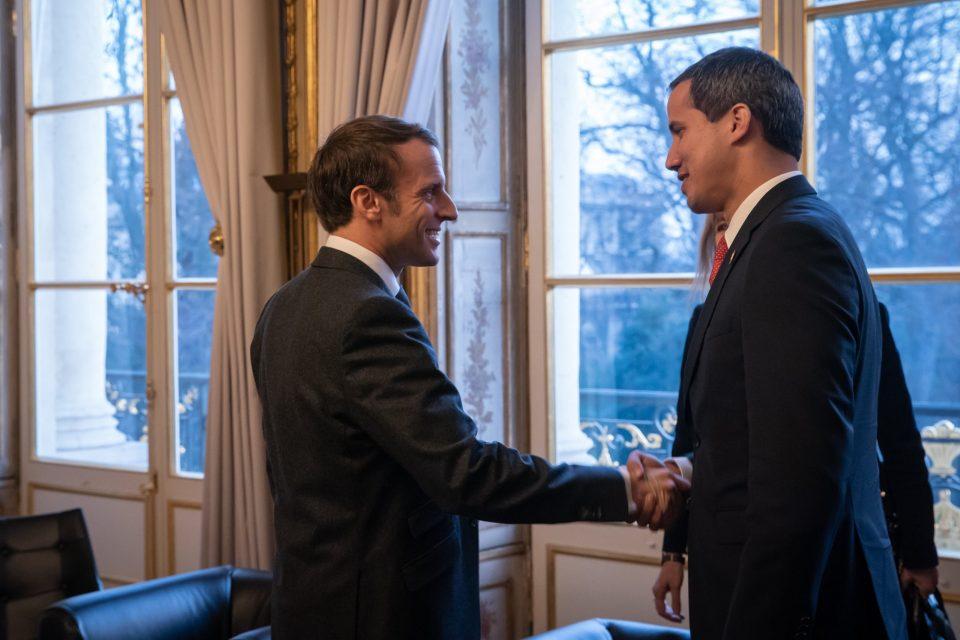 Francia exige elecciones libres para Venezuela tras reunión con Guaidó
