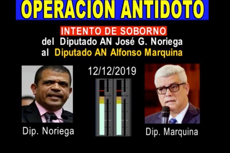 Marquina reveló pruebas de intentos de soborno del diputado José Noriega
