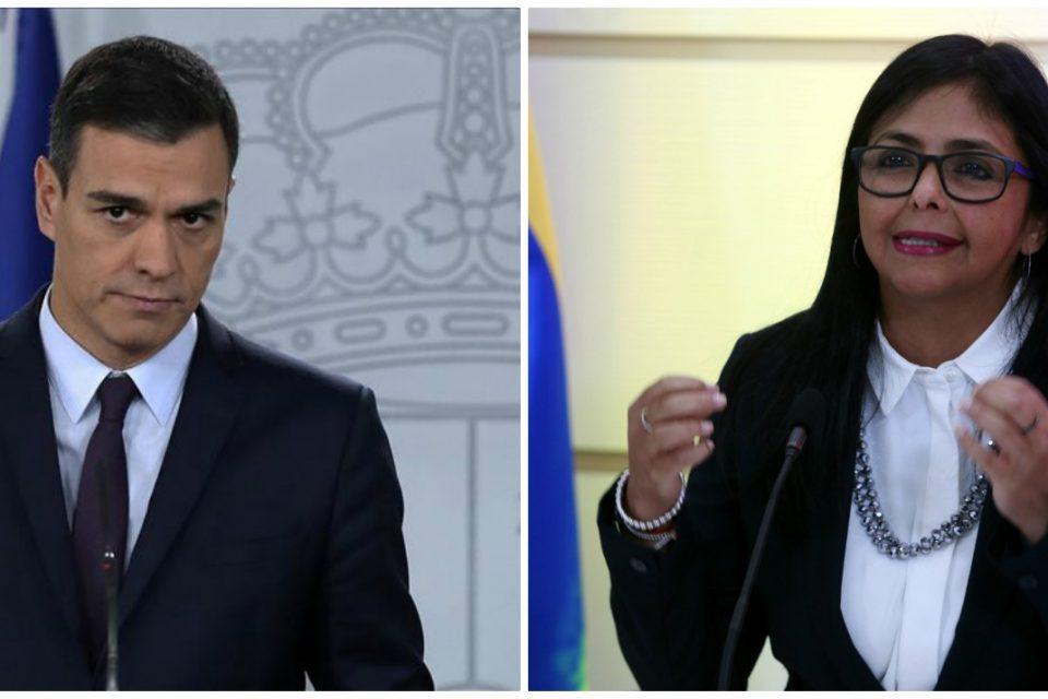 ¿Sigue la doble moral? España asegura que Delcy Rodríguez y Pedro Sánchez no hablaron