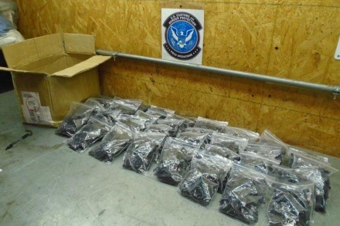 EE.UU. confisca millones de dólares en narcóticos ilegales y piezas de armamento proveniente de China