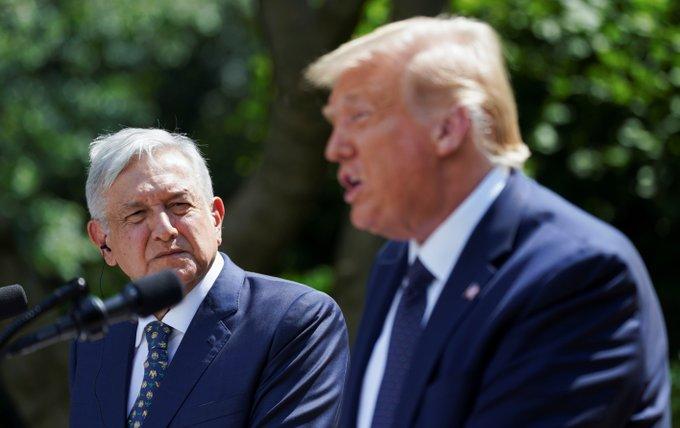 """Un cándido López Obrador a Trump: """"Usted no ha pretendido tratarnos como colonia"""""""
