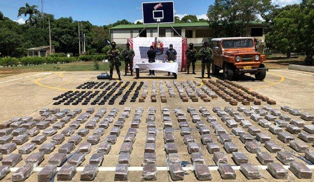 Incautan más de 700 kilos de droga en Colombia que iban para Venezuela