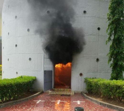 Así quemaron los paramilitares de Ortega la capilla del Santísimo en Catedral de Nicaragua (Fotos)