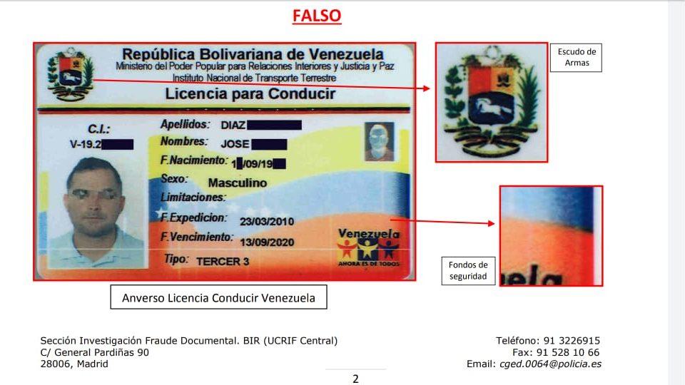 decomisan-mas-de-800-permisos-de-conducir-de-venezolanos-falsificados-en-espana