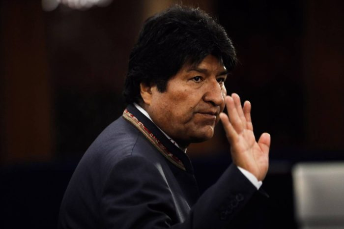 Evo Morales viaja a recibir línea en Caracas en un avión sancionado por EEUU