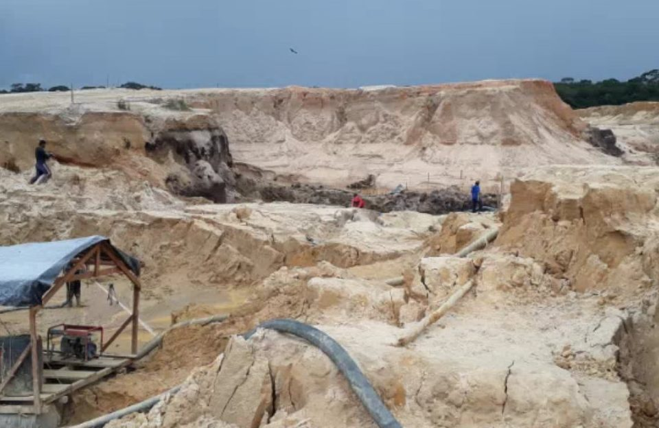 depredación causada por la minería