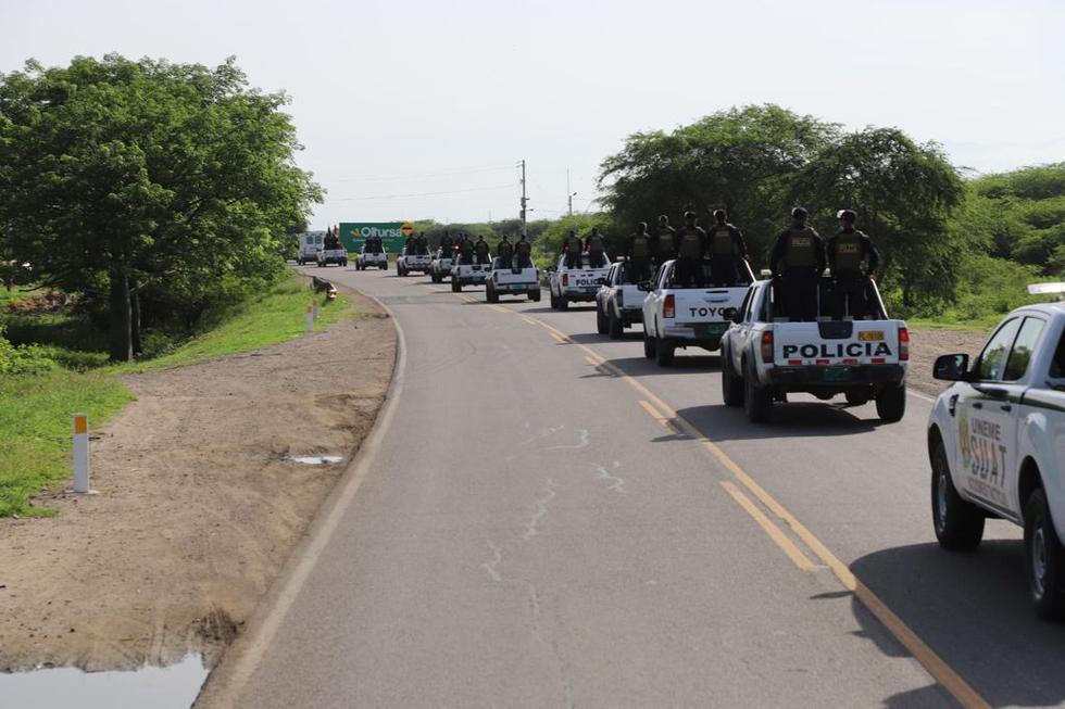 La policía también participa en la operación para combatir el ingreso de venezolanos