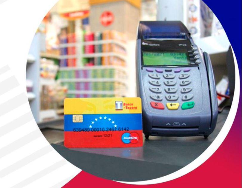 banco del tesoro con tarjeta de débito para pagos en divisas - primer informe