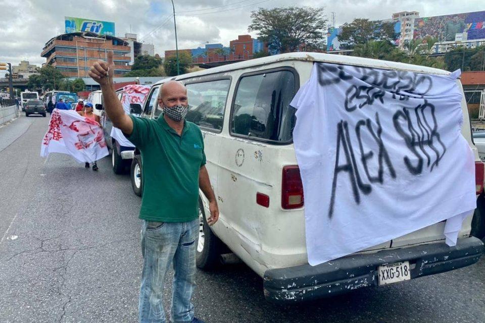quiénes estaban en la marcha por álex saab en Caracas