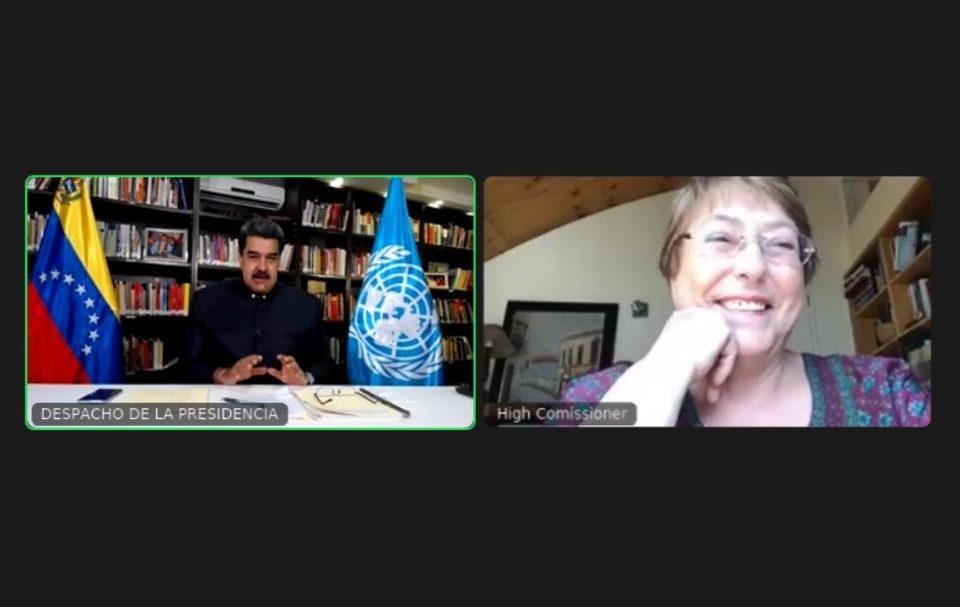 videoconferencia entre Maduro y Bachelet