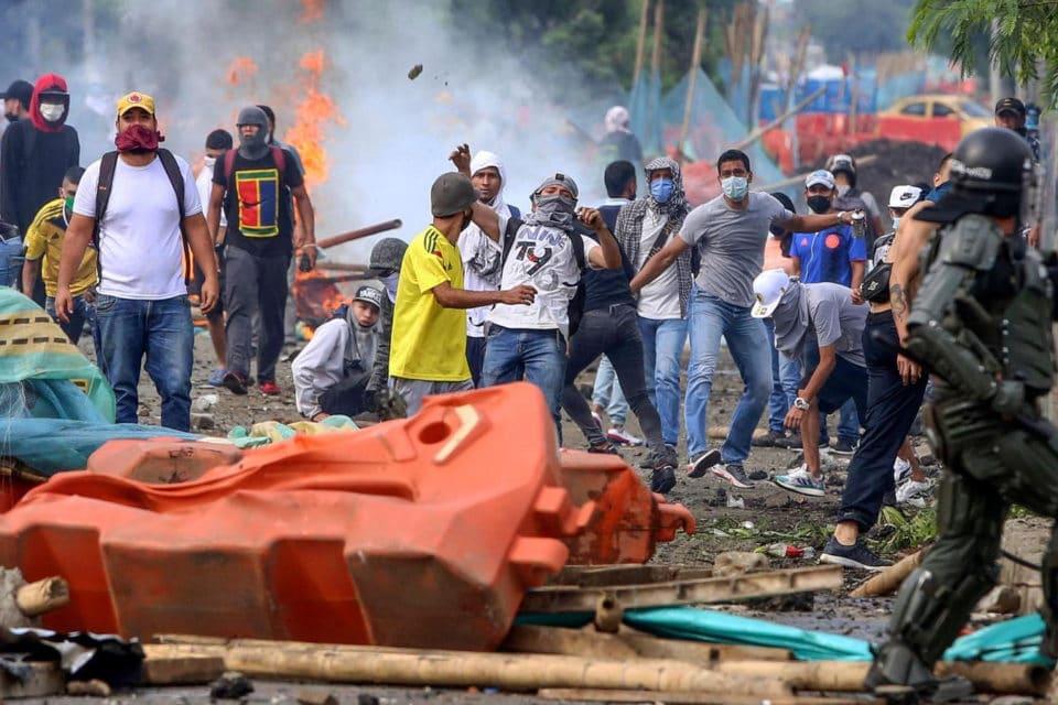 protestas violentas