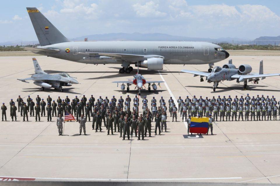 Los aviones de guerra EEUU que van a Colombia para un ejercicio militar