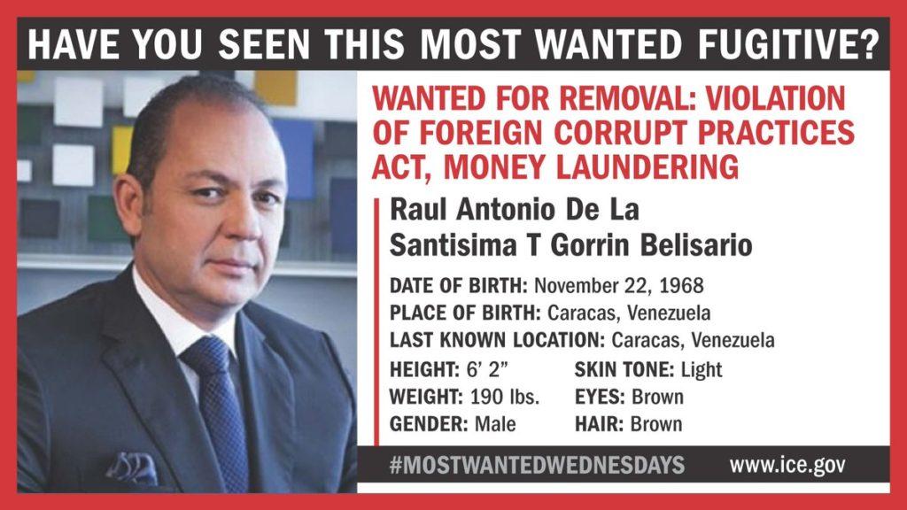 Raúl Gorrín Wanted - Primer Informe